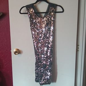 Fredrick's of Hollywood Silver Sequin Dress